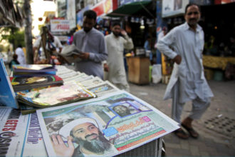 A newspaper stall in Islamabad, May 3, 2011
