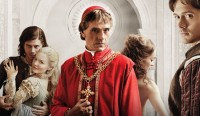 François Arnaud, Holliday Grainger, Jeremy Irons, Lotte Verbeek, and David Oakes in the Showtime series <em>The Borgias</em>