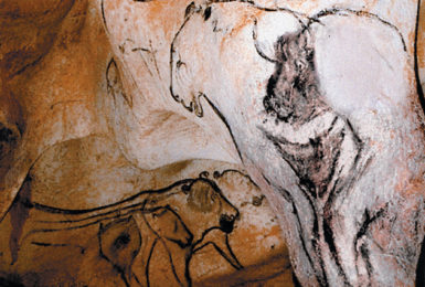 'The Venus and the Sorcerer,' a Paleolithic painting from the Chauvet Cave in southern France that 'tantalizes' Werner Herzog in his documentary film Cave of Forgotten Dreams. 'It shows the forequarters of a bison surmounting a woman's sex,' Julian Bell explains. 'That is the lone glimpse of the human figure that Chauvet offers him.'
