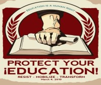 A poster for the national Day of Action to Defend Public Education on March 4, 2010
