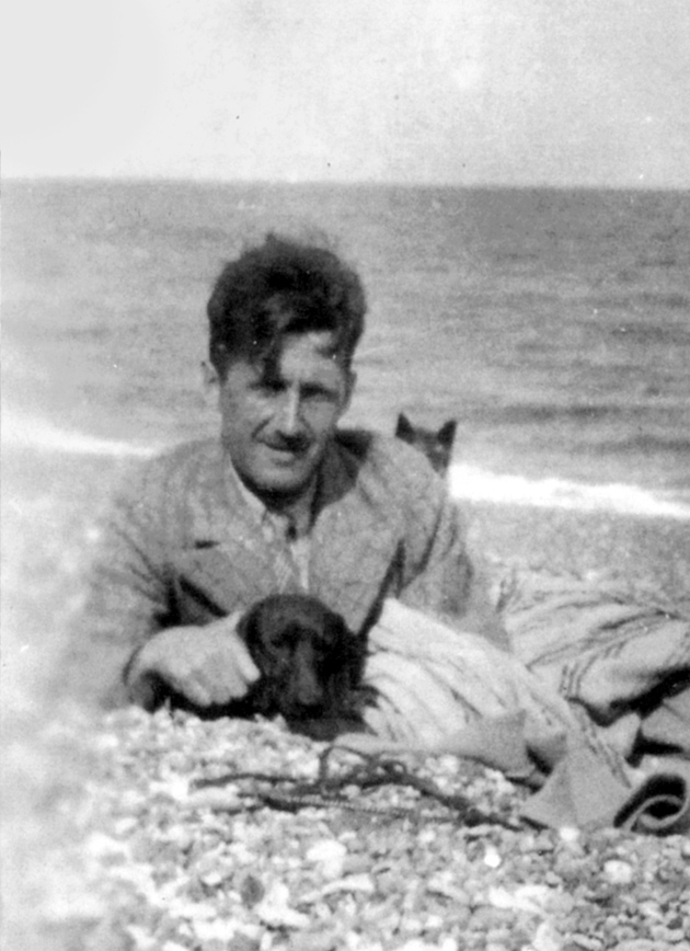 George Orwell on Southwold Beach, Suffolk, early 1930s