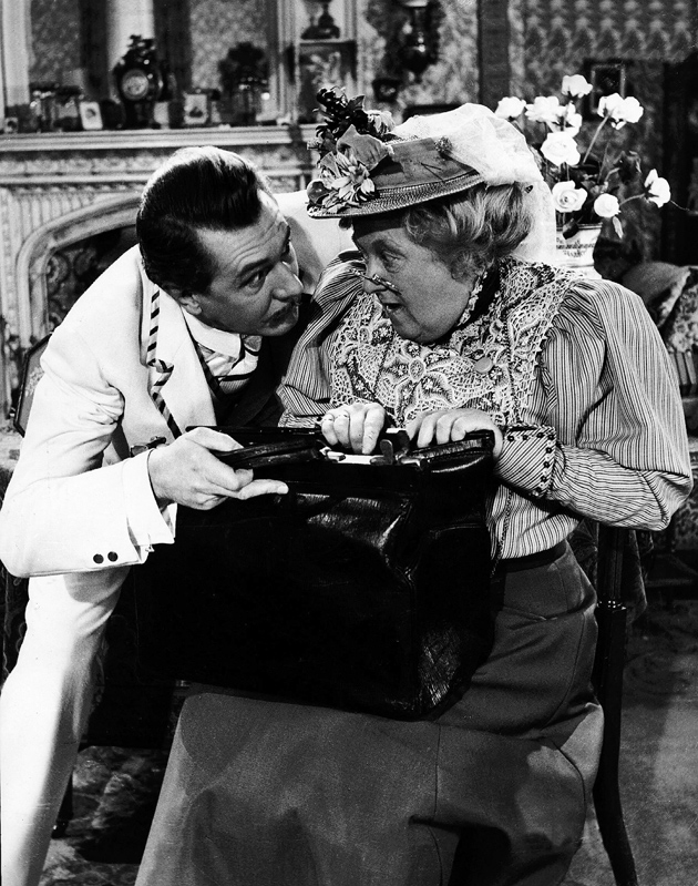 Michael Redgrave as Jack Worthing and Margaret Rutherford as Miss Prism in The Importance of Being Earnest, 1952