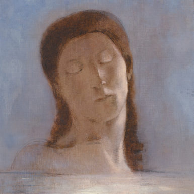 Odilon Redon: Closed Eyes, 1890; from the exhibition 'Odilon Redon: The Prince of Dreams, 1840–1916,' at the Grand Palais, Paris, March 23–June 20, 2011, and the Musée Fabre, Montpellier, July 7–October 16, 2011