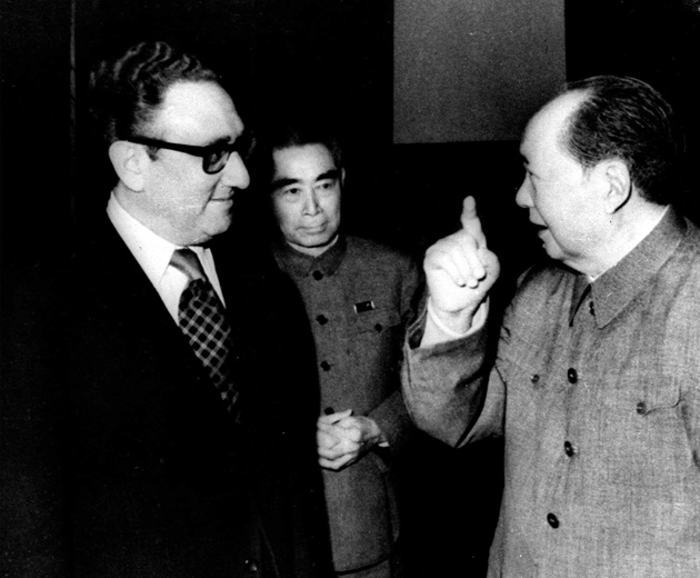 Henry Kissinger with Zhou Enlai and Mao Zedong, Beijing, February 1973