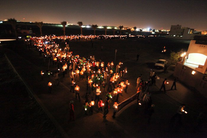 Candlelight protest in Sitra, Bahrain, March 2011