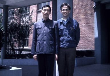 The author with with a professor of Chinese at Fudan University, Shanghai, 1973