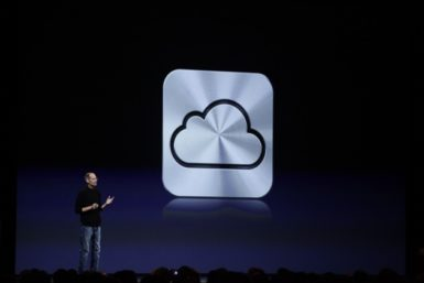Steve Jobs talking about the iCloud at the Worldwide Developers Conference, San Francisco, Monday, June 6, 2011.