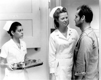 Mimi Sarkisian, Louise Fletcher, and Jack Nicholson in One Flew Over the Cuckoo's Nest, 1975