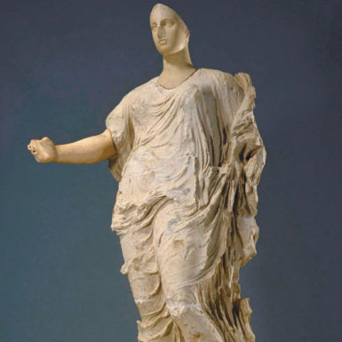 This late-fifth-century statue, thought by some to depict the Greek goddess Aphrodite, was purchased by the Getty Museum in 1988 from a London dealer for $18 million with no information about its origins. It was relinquished this year to a museum in Aidone, Sicily; Italian authorities believe it was looted from the nearby archaeological site of Morgantina.