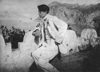 Sigizmund Krzhizhanovsky on vacation in Italy, summer 1912