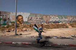 A protester in Qalandia, Palestine, June 5, 2011