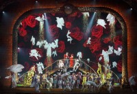 The finale of Cirque du Soleil's production of Zarkana at Radio City Music Hall, New York City