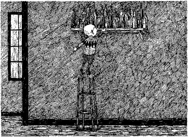 Drawing by Edward Gorey