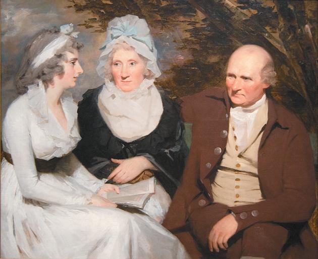 Siblings John and Betty Johnstone with their grandniece Margaret Wedderburn; painting by Henry Raeburn, circa 1790–1795
