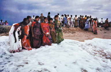 Tourists in Mahabalipuram, Tamil Nadu