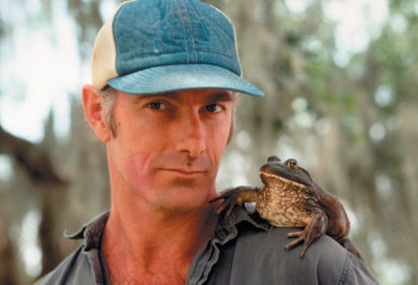John Sayles on the set of his film Passion Fish, 1992