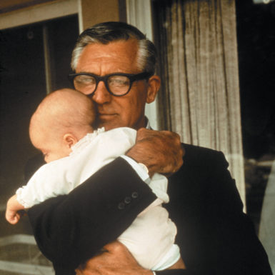 Cary Grant with his daughter Jennifer, 1966