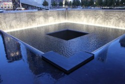 A view of Michael Arad's memorial to the victims of 9/11
