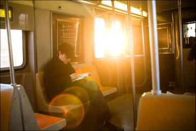 F Train, Smith & 9th Street, 6:35pm