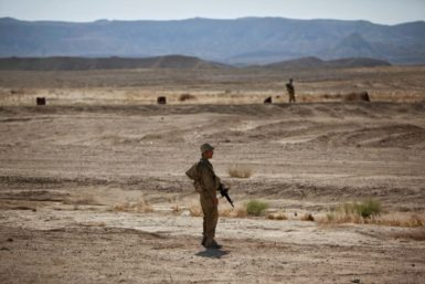 Israeli soldiers on patrol near the border with Egypt, August 18, 2011