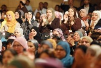 Tunisian women at a meeting for the Ennahda party, Tunis, April 17, 2011