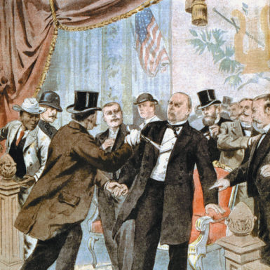 The assassination of William McKinley, from Le Petit Journal, Paris, September 22, 1901