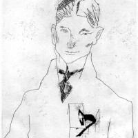 Franz Kafka; drawing by Tullio Pericoli