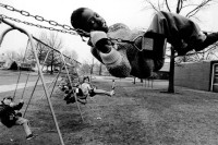 Children on the playground of Fairbanks Elementary School, Springfield, Missouri