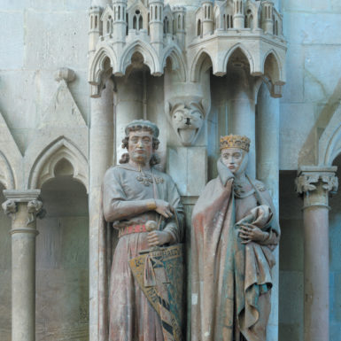 Ekkehard II, Margrave of Meissen, and his wife, Uta; from the series of twelve life-size statues depicting the founding donors to the Naumburg Cathedral, 1243–1249