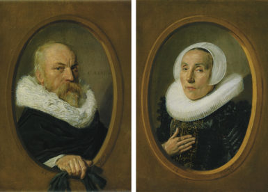 Frans Hals: Petrus Scriverius, 8 3/4 x 6 1/2 inches, 1626, and his wife, Anna van der Aar, 8 3/4 x 6 1/2 inches, 1626