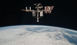 The International Space Station in an image taken by an Expedition 27 crew member from the Soyuz TMA-20 (May 23, 2011)