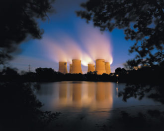 Drax Power Station, a coal-fired power plant in Yorkshire, England, 2008