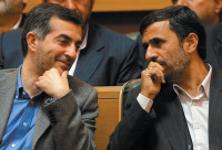 Iranian President Mahmoud Ahmadinejad (right) and his chief of staff, Esfandiyar Rahim Mashaei, Tehran, April 2009