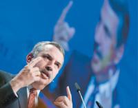 Thomas Friedman speaking at the Swiss Economic Forum, Thun, Switzerland, May 14, 2009