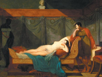 Guillaume Guillon Lethière: The Sleep of Venus, 1802. This double portrait of Lucien and Alexandrine Bonaparte inspired Marcello Simonetta and Noga Arikha to begin research on their lives.