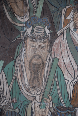 Detail from a 14th century mural from the Daoist Yonglegong Temple in Shanxi province