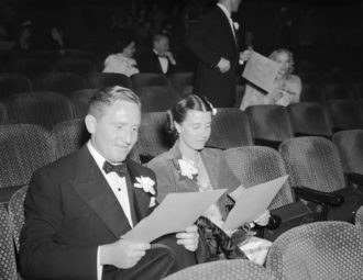 Spencer Tracy and his wife, Louise Treadwell Tracy, Hollywood, California, 1930s