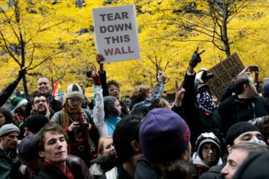 Occupy Wall Street protesters gather in Zuccotti Park after marching around Wall Street in New York, November 17, 2011