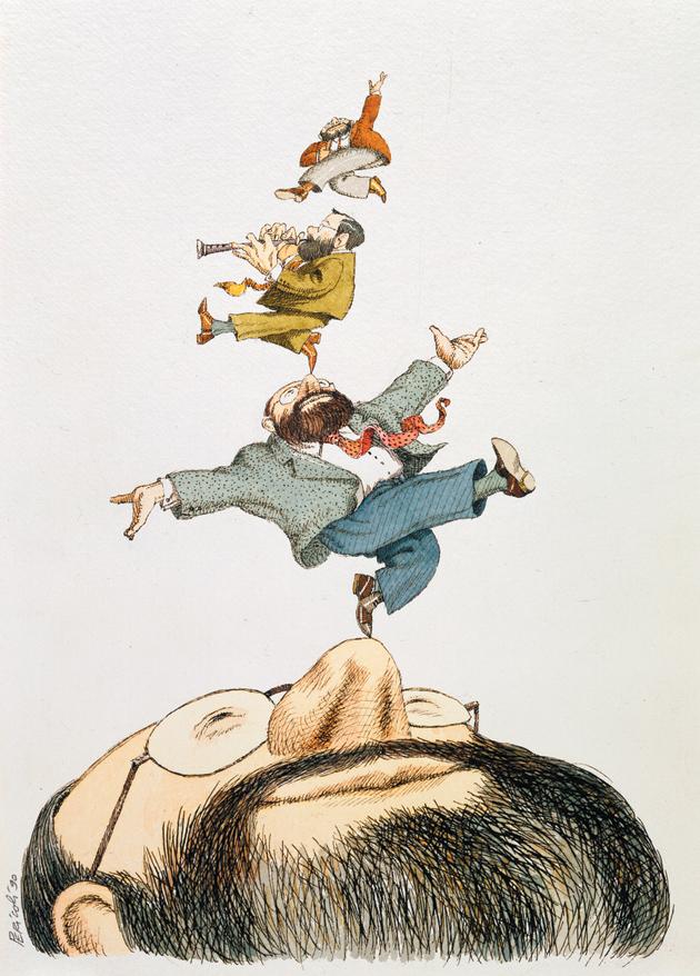Umberto Eco; drawing by Tullio Pericoli