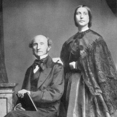 John Stuart Mill with his stepdaughter Helen Taylor, circa 1860