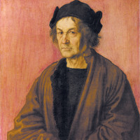 Albrecht Dürer the Elder; portrait by Albrecht Dürer of his father, 1497