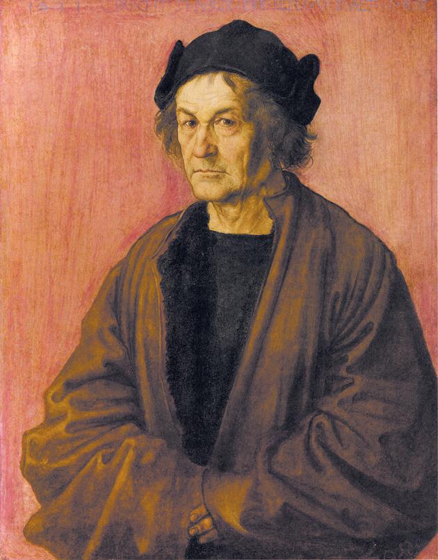 Albrecht Dürer the Elder; portrait by Albrecht Dürer of his father, 1497