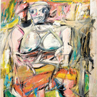 Williem de Kooning: Woman I, 75 7/8 x 58 inches, 1950–1952. Illustrations (c)2011 The Willem de Kooning Foundation/Artists Rights Society (ARS), New York.