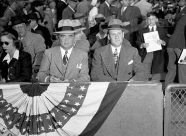 J. Edgar Hoover and Clyde Tolson at the World Series, October 4, 1942