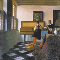 Johannes Vermeer: The Music Lesson, circa 1662–1663