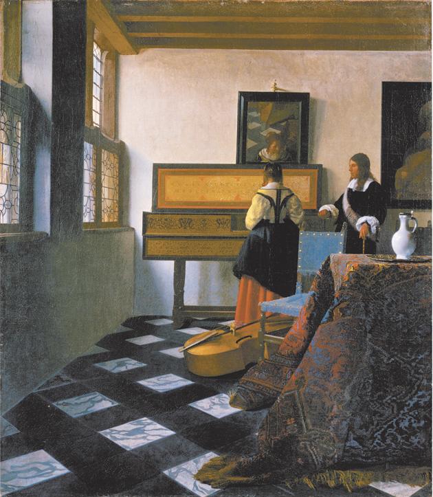 Johannes Vermeer: The Music Lesson, circa 1662–1663