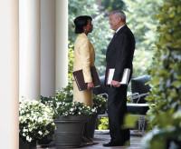 Condoleezza Rice and Colin Powell, Washington, D.C., May 2004
