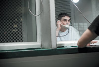 Mike Perry in prison, Livingston, Texas, 2010
