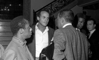 James Baldwin and Harry Belafonte in Montgomery, Alabama, during the civil rights march from Selma to Montgomery, March 1965