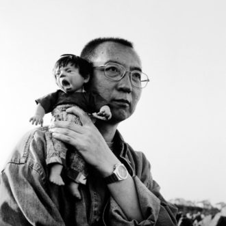 The Nobel Prize–winning writer Liu Xiaobo before his arrest, photographed by his wife, Liu Xia; from the exhibition 'The Silent Strength of Liu Xia,' which opened last fall at the Boulogne Museum outside Paris and will be on view at the Italian Academy for Advanced Studies at Columbia University February 9–March 1. Liu Xia's photographs, which were smuggled out of China, show what she calls her 'ugly babies': mute dolls that, according to the curator Guy Sorman, represent 'the Chinese people, and sometimes Liu Xia and her husband.'